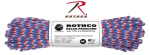 Rothco 127 Rothco Nylon Paracord 550lb 100 Ft / Red White Blue Camo