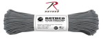 Rothco 128 Rothco Nylon Paracord 550lb 100 Ft / Charcoal Grey