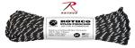 Rothco 136 Rothco Nylon Paracord 550lb 100 Ft / Black With Reflective Tracers