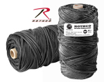 Rothco 138 Rothco Nylon Paracord 550lb 300 Ft Tube / Black