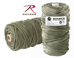 Rothco 139 Rothco Nylon Paracord 550lb 300 Ft Tube / Olive Drab
