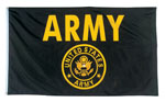 Rothco 1498 Black & Gold Army 3' X 5' Flag