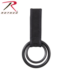 Rothco 15575 Rothco Two-Ring Baton / Light Holder - Black