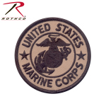 Rothco 1585 Coyote Marine Corps Patch w/ Hook & Loop 3''