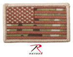 Rothco 17771 Forward Multicam Flag Patch With Hook Back