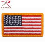 Rothco 17775 American Flag Patch With Hook Back