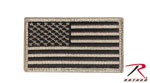 Rothco 17782 Khaki / Black American Flag Patch With Hook And Loop