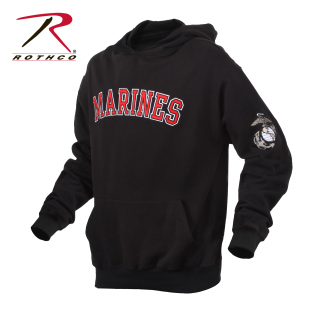 Rothco 2045 2045 Rothco Marines Pullover Hoodie-Black