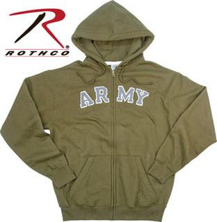 Rothco 2094 2094 Rothco Vintage Army Zipper Hoodie Sweatshirt - Olive Drab