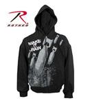 Rothco 2096 Rothco Make It Rain Lightweight Zipper Hoodie Sweatshirt- Black