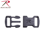 Rothco 213 Rothco Flat Side Release Buckle - Black / 3/8''