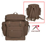 Rothco 2384 Rothco Canvas European Rucksack - Earth Brown