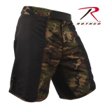 Rothco 2405 Rothco Fighting Shorts - Black / Woodland