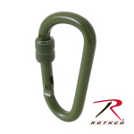 Rothco 247 Rothco 80mm Locking Accessory Carabiner - Od