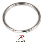 "Rothco 251 1"" Split Ring / Nickel - 50 Pack"