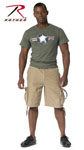 Rothco 2547 Vintage Khaki Infantry Utility Shorts