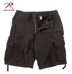 Rothco 2552 Vintage Black Infantry Utility Shorts