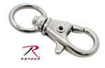 "Rothco 256 1/2"" Swivel Trigger Snap Hook / Nickel - 10 Pack"