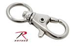 "Rothco 256 1/2"" Swivel Trigger Snap Hook / Nickel - 10 Pack"