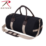 Rothco 2621 Rothco 19'' Canvas & Leather Gym Bag - Black