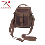 Rothco 2815 Rothco Canvas & Leather Travel Shoulder Bag-Brn