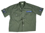 Rothco 2875 Men's Vintage Olive Drab Army Air Force S/S BDU Shirt