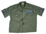 Rothco 2876 2876 Men's Vintage Olive Drab Army Air Force S/S BDU Shirt