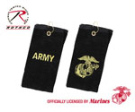 Rothco 2900 Black Military Embroidered Golf Towels