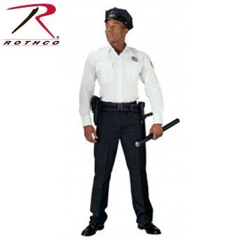 Rothco 30001 30001 Rothco Long Sleeve Uniform Shirt / White