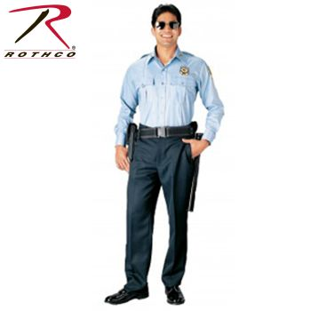 Rothco 30011 30011 Rothco Long Sleeve Uniform Shirt / Light Blue