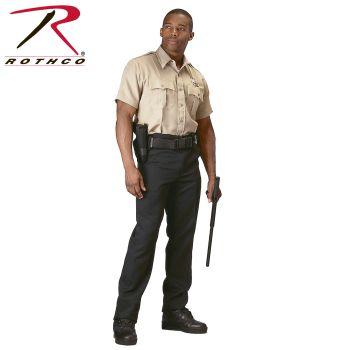 Rothco 30037 30037 Rothco Short Sleeve Uniform Shirt - Khaki