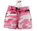 Rothco 3196 Rothco Womens Short Shorts - Pink Camo