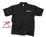 Rothco 3216 Black Moisture Wicking ''security'' Golf Shirt