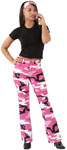 Rothco 3348 Women's Pink Camo Stretch Flare Pants