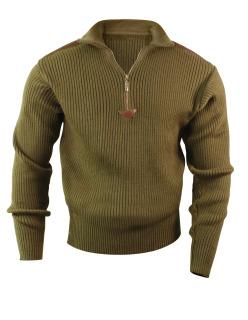 Rothco 3372 3372 Rothco Acrylic Commando Sweater 1/4 Zip - Olive Drab
