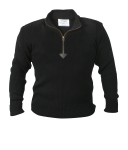 Rothco 3392 3392 Rothco Acrylic Commando Sweater 1/4 Zip - Black