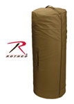 Rothco 3439 Rothco Canvas Zipper Duffle Bag / 25 X 42 - Coyote