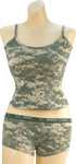 Rothco 3477 Women's ACU Digital ''booty Camp'' Booty Shorts And 4477 Women's ACU Digital Tank Top