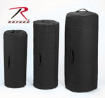 Rothco 3488 3488 Rothco Canvas Zipper Duffle Bag / 21 X 36 - Black