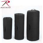 Rothco 3491 3491 Rothco Canvas Zipper Duffle Bag / 21 X 36 - Black