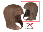 Rothco 3569 Rothco Leather Pilots Helmet - Brown