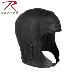 Rothco 3572 Rothco Leather Pilot Helmet - Black