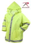 Rothco 3654 Rothco Reflective Rain Jacket-Safety Green