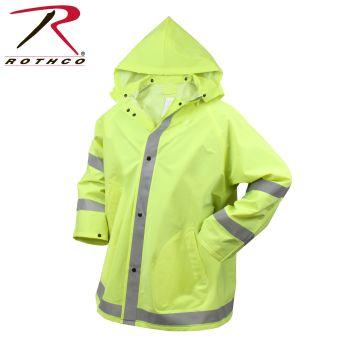 Rothco 3655 3655 Rothco Reflective Rain Jacket-Safety Green