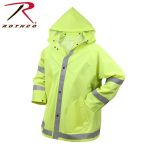 Rothco 3655 3655 Rothco Reflective Rain Jacket-Safety Green
