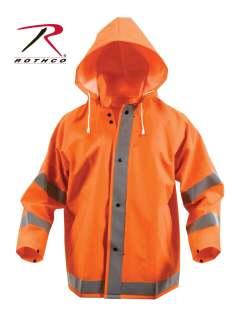 Rothco 3657 3657 Rothco Reflective Rain Jacket - Orange