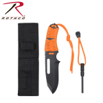 Rothco 36741 Rothco Large Paracord Knife/Fire Starter-Orange