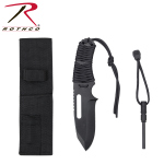Rothco 36742 Rothco Large Paracord Knife / Fire Starter-Black