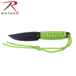 Rothco 3677 Zombie Paracord Knife w/Fire Starter-Neon Green