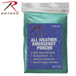 Rothco 3681 All Weather Emergency Poncho